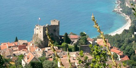 The medieval castle of Roquebrune-Cap-Martin