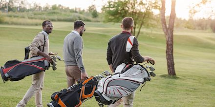 A game of golf among friends