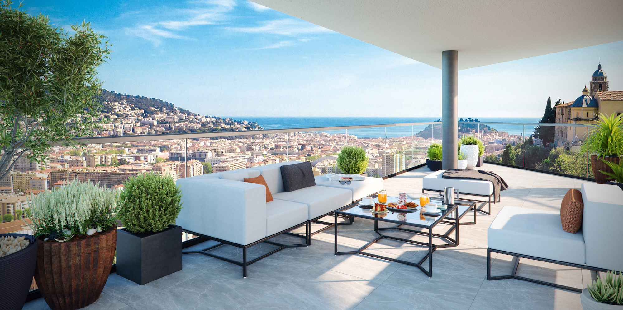 Your studio on the top floor with terrace in new residence