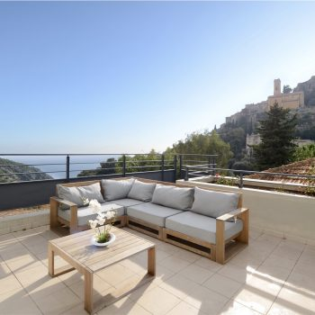 Colline d'Eze – 3 pièces vue mer avec grande terrasse de 75 m2