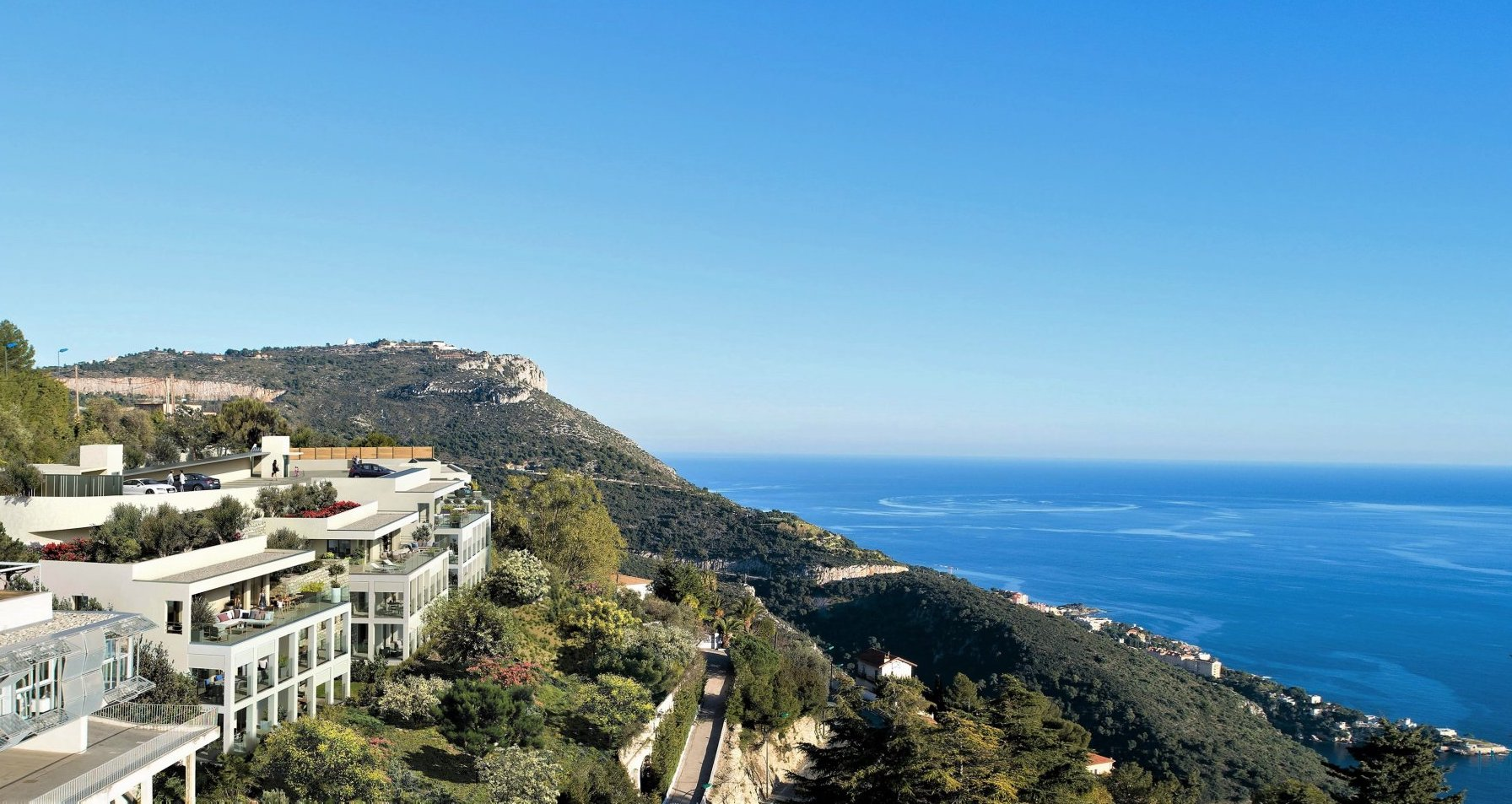 Eze – Sumptuous 3 Rooms of 73 m² with sea view