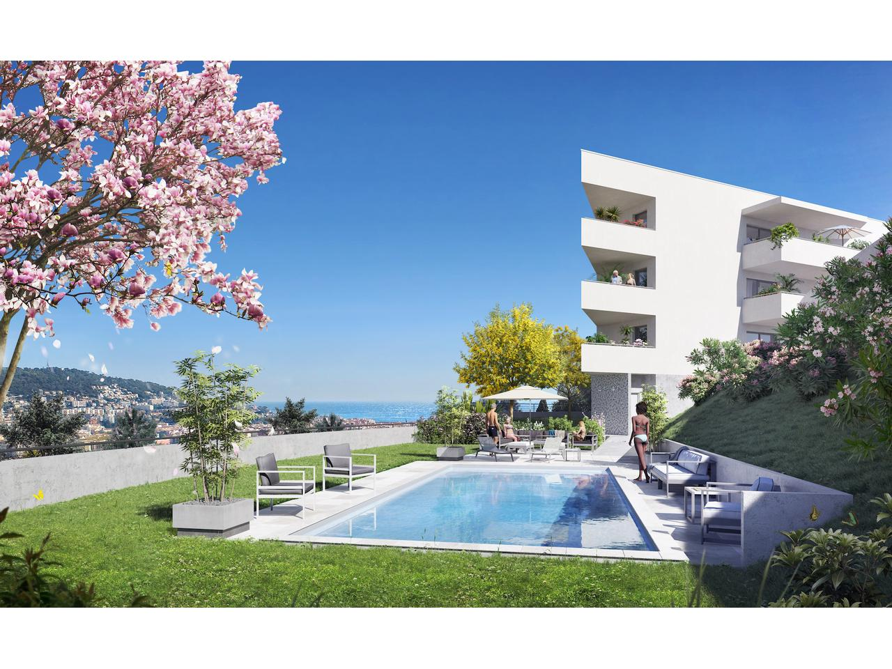 Nice Cimiez – One Bedroom Apartment Fully Renovated in a Residence With Swimming Pool