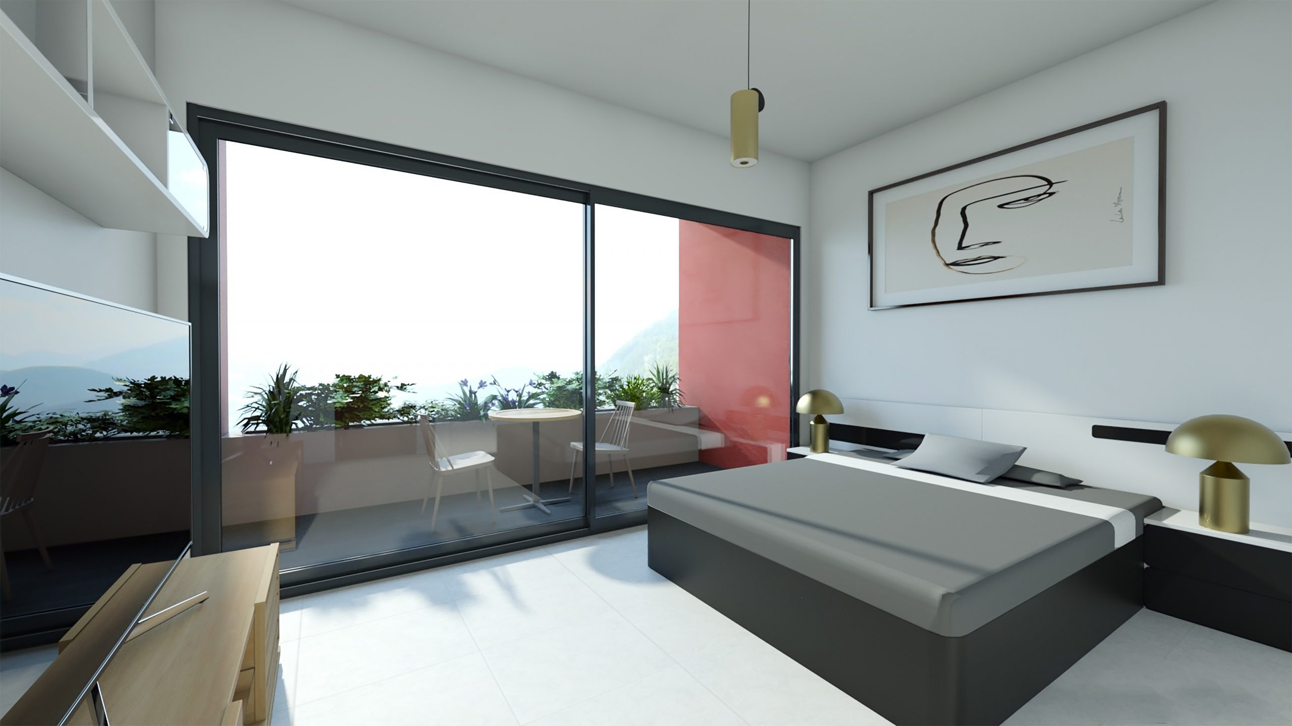 Roquebrune-Cap-Martin Spacious 2 bedrooms with sea view