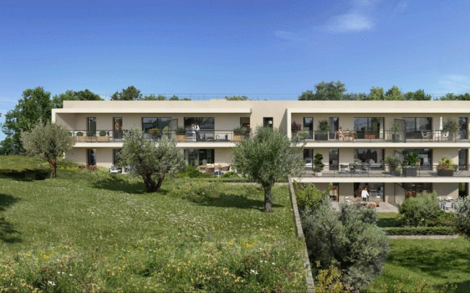 Valbonne – Apartment 3 Rooms 64 sqm in New Residence of Prestige