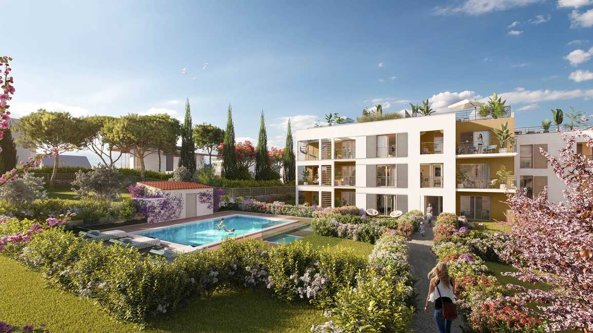 Antibes Juan Les Pins – 4 bedrooms Apartment on the Top Floor near the Sea