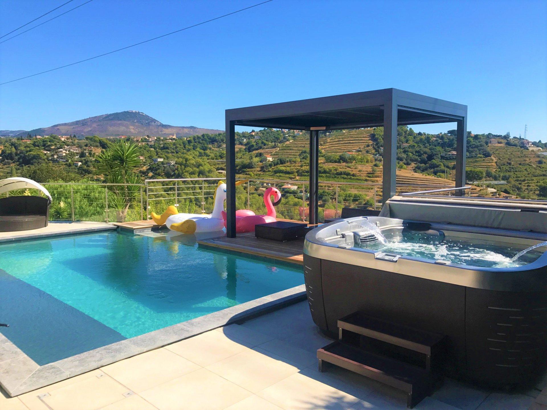 Nice Bellet – Magnifique villa au calme avec piscine à débordement et vue dégagée